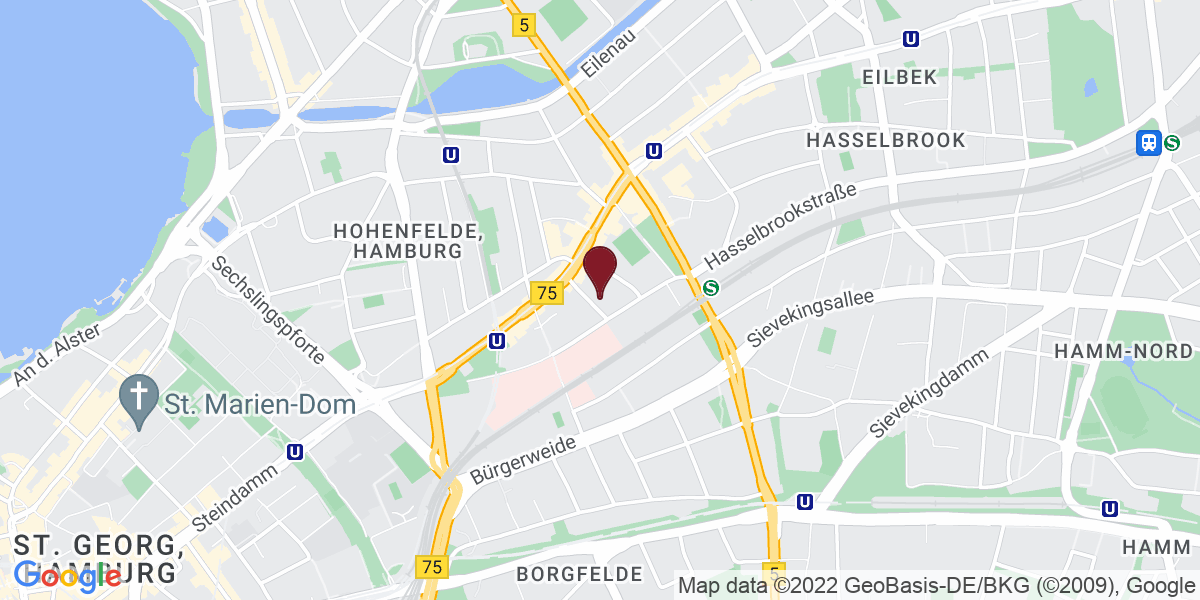 Google Map of BEAUTYSHOTS Hamburg
