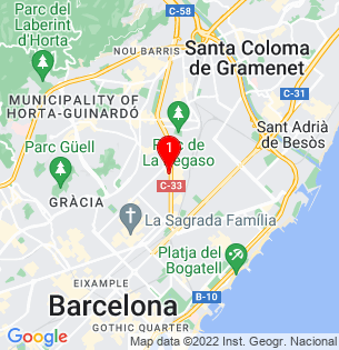 Google Map of BISCAIA, Barcelona, BARCELONA, Spain