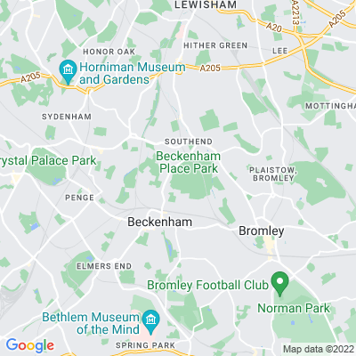 Beckenham Place Park Location