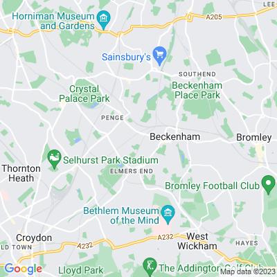 Churchfields Recreation Ground, Bromley Location
