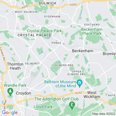 Beckenham Crematorium and Cemetery Location