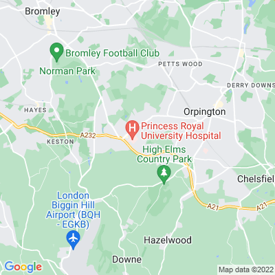 Farnborough Recreation Ground Location
