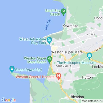 Beach Lawns, Weston-super-Mare Location