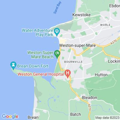 Clarence Park, Weston-super-Mare Location
