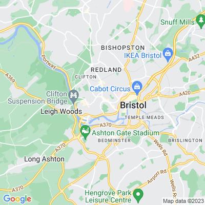 Upper Berkeley Place/Upper Byron Place, Clifton, Bristol Location