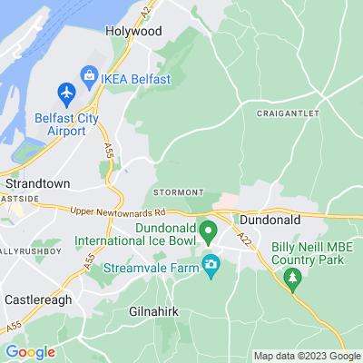 Stormont Castle and Parliament Buildings Location