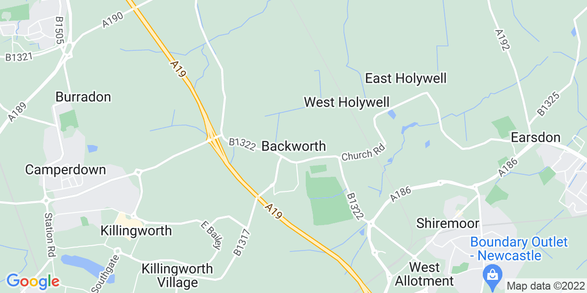 Map: Assistant Manager position in Backworth