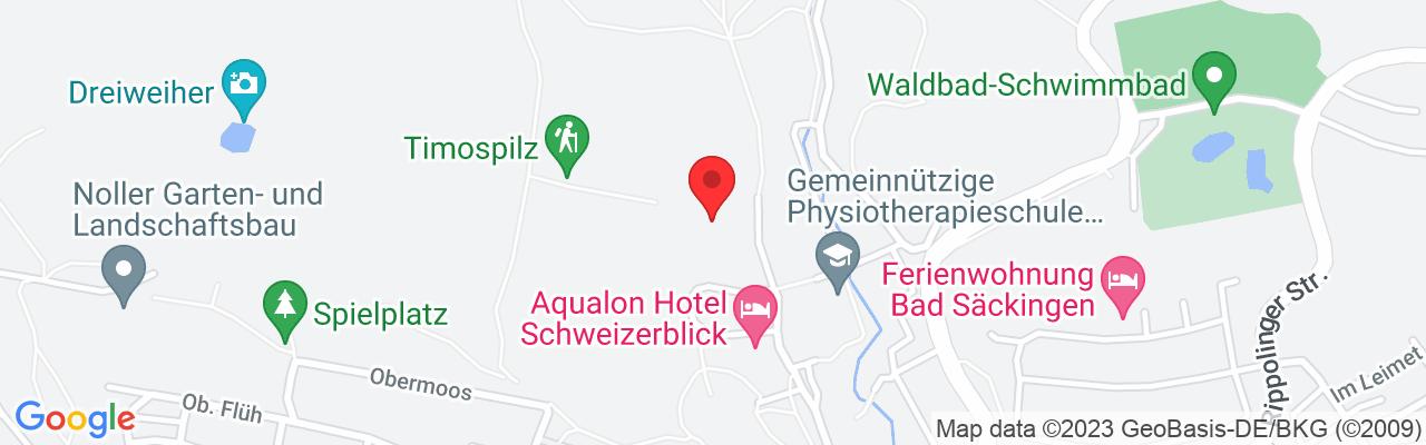 Google Map of Bad Säckingen Bergseestr. 89