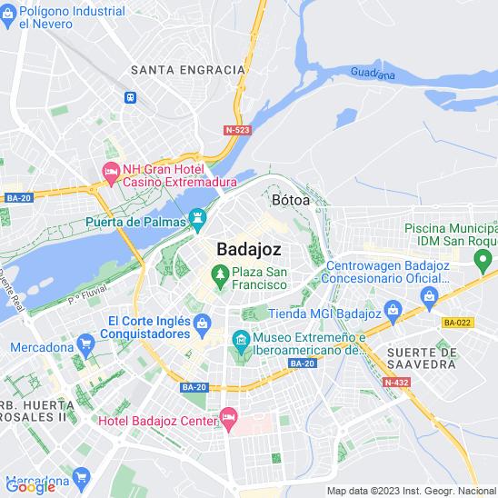 Mapa redondo Badajoz