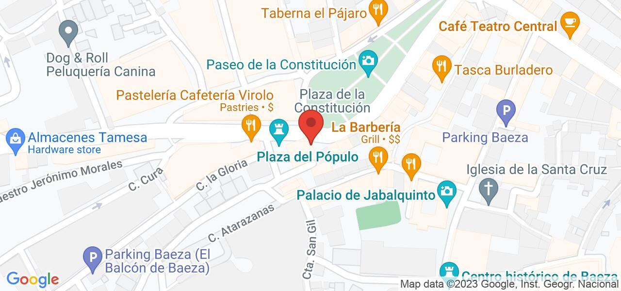 Mapa Baeza, Paseo Portales Carbonería, 1