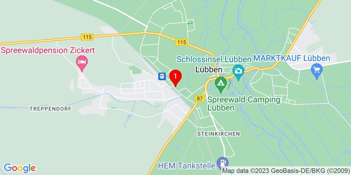 Google Map of Bahnhofstraße 37, 15907 Lübben