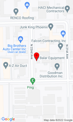 Google Map of Balar Equipment Corp. 11023 N 22nd Avenue, Phoenix, AZ, 85029