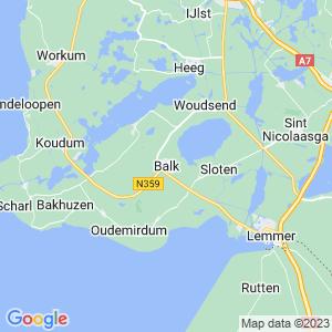 Werkgebied van onze bestrijder in Balk