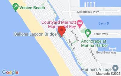 Map of Ballona Lagoon Bridge, Venice, CA 90292