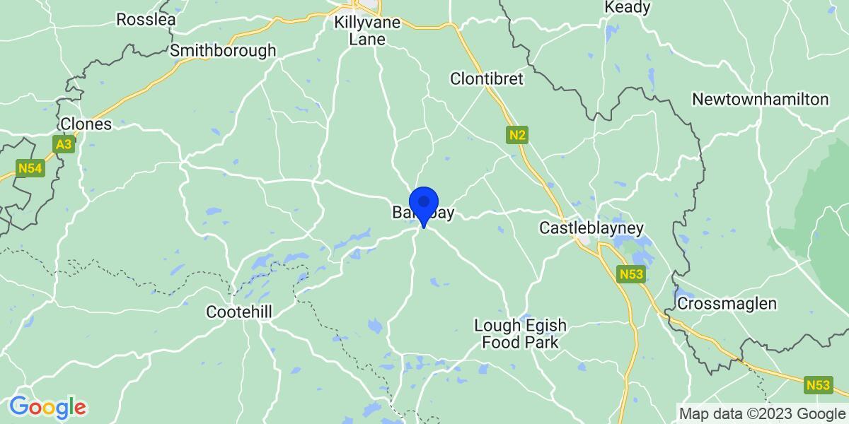 Google Map of Monaghan, Ireland