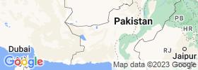 Balochistān map