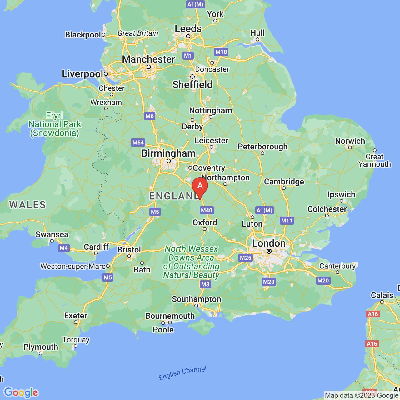 Banbury, England Map