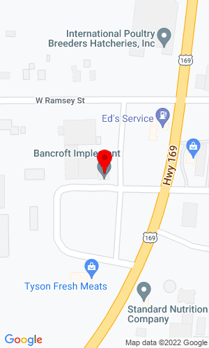 Google Map of Bancroft Implement 312 W Ramsey Street, Bancroft, IA, 50517,