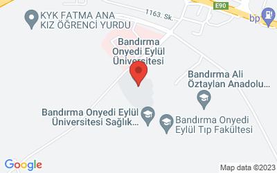Map of Bandırma Onyedi Eylül Üniversitesi