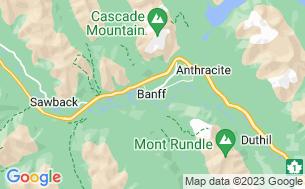 Map of Banff/Waterfowl Lake