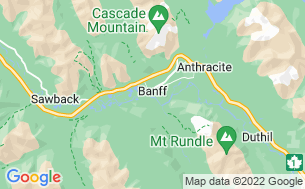 Map of Banff/Two Jack Lake Campground