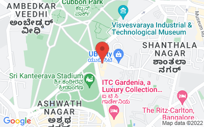 Map of Bangalore, Karnataka, India