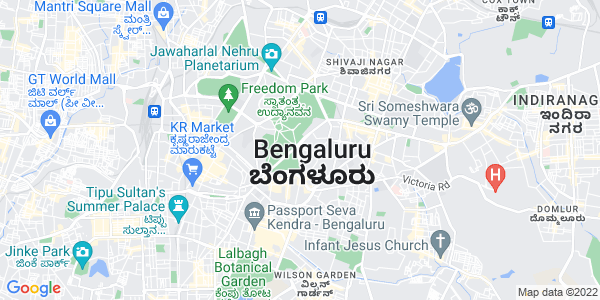 Google Map of Bangalore