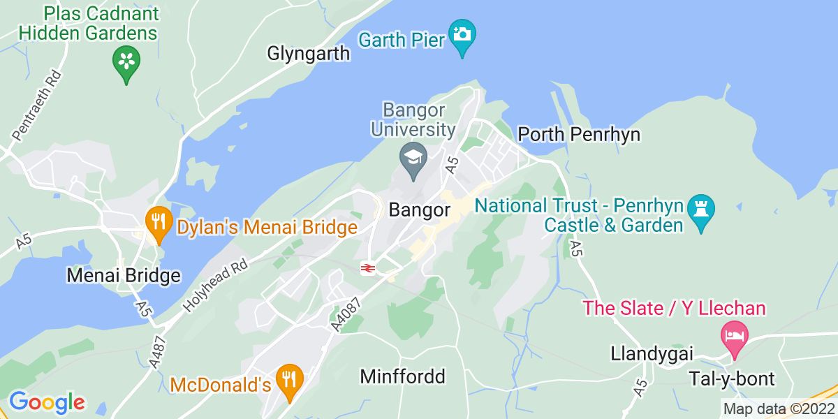 Map: Care Assistant role in Bangor