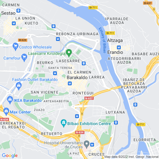 Mapa redondo Barakaldo