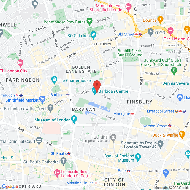 Location map - Silk Street, London EC2Y 8DS