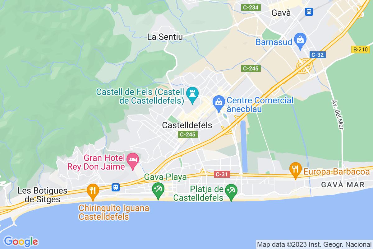 Mapa Barcelona CASTELLDEFELS