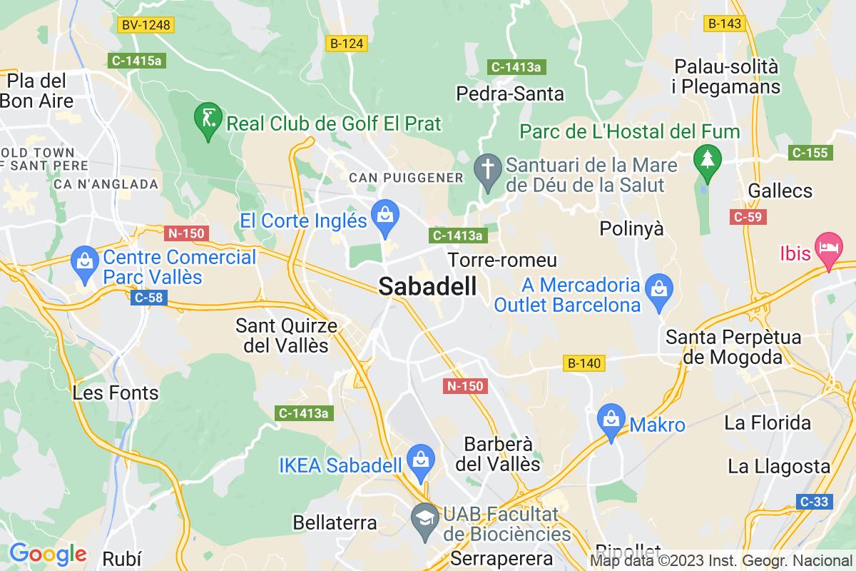 Mapa Barcelona SABADELL