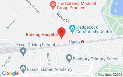 Map of Barking Community Hospital