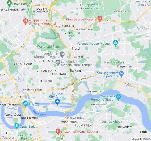 Website Designer Barking Google map of location