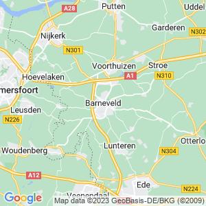 Werkgebied van onze bestrijder in Barneveld