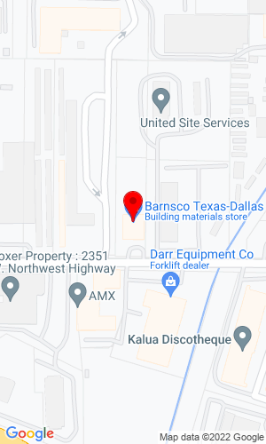 Google Map of Barnsco, Inc. 2609 Willowbrook Road, Dallas, TX, 75220