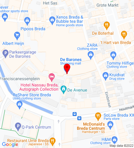 Google Map of Barones 17 4811 WP Breda