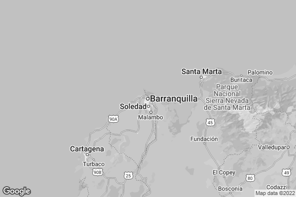 Map of Barranquilla