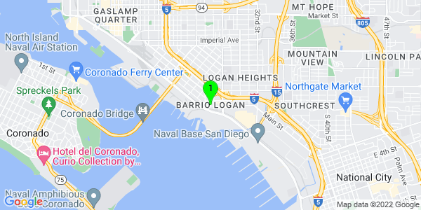 Google Map of Barrio Logan, San Diego, CA