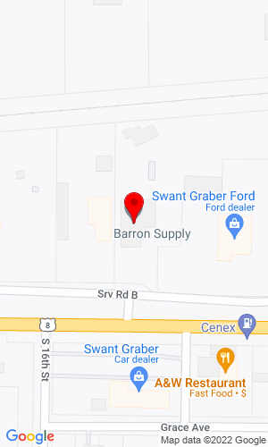 Google Map of Barron Supply Co. 1621 E. Division Ave., Barron, WI , 54812