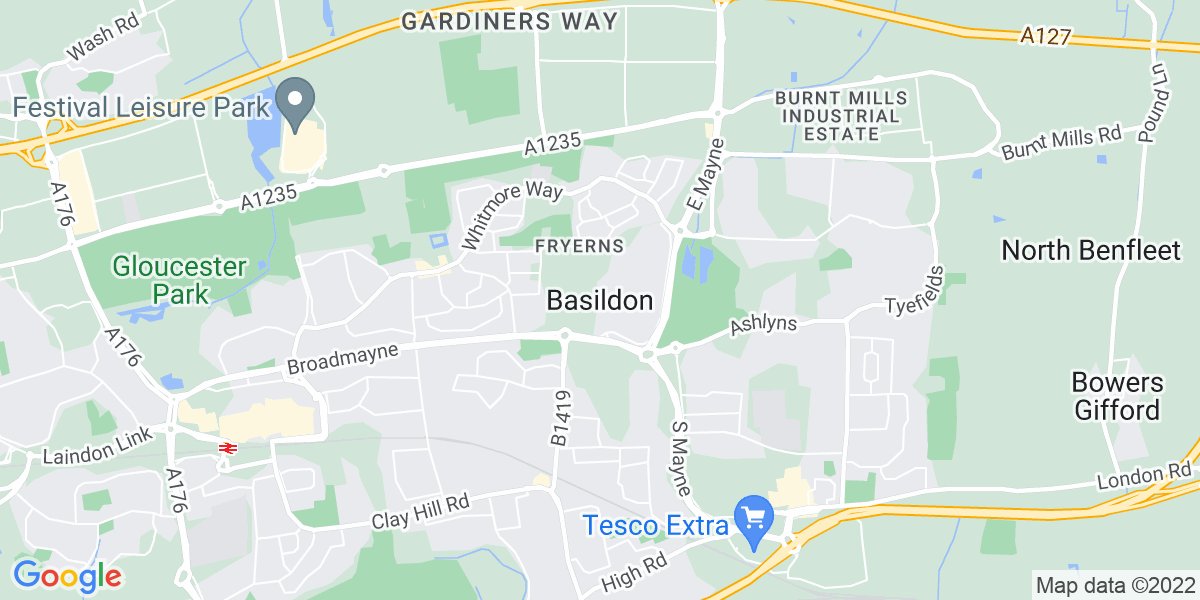 Map: Factory / Production Line Operator job role in Basildon