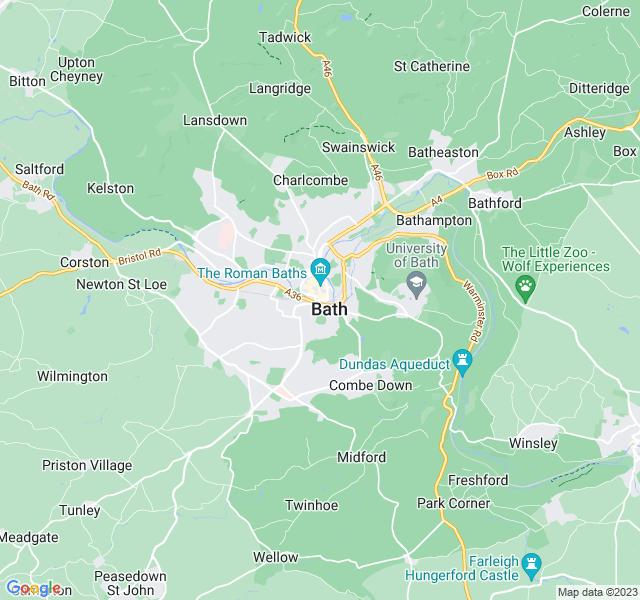 Website Designer Bath Google map of location