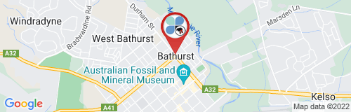 Bathurst google map
