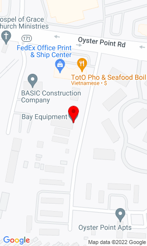 Google Map of Bay Equipment Company 12093 Waterman Drive, Newport News, VA, 23602