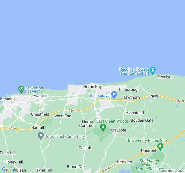 Website Designer Bay Google map of location