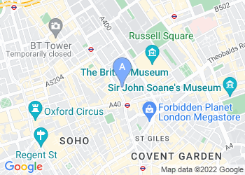 Map for St Giles Hotel London