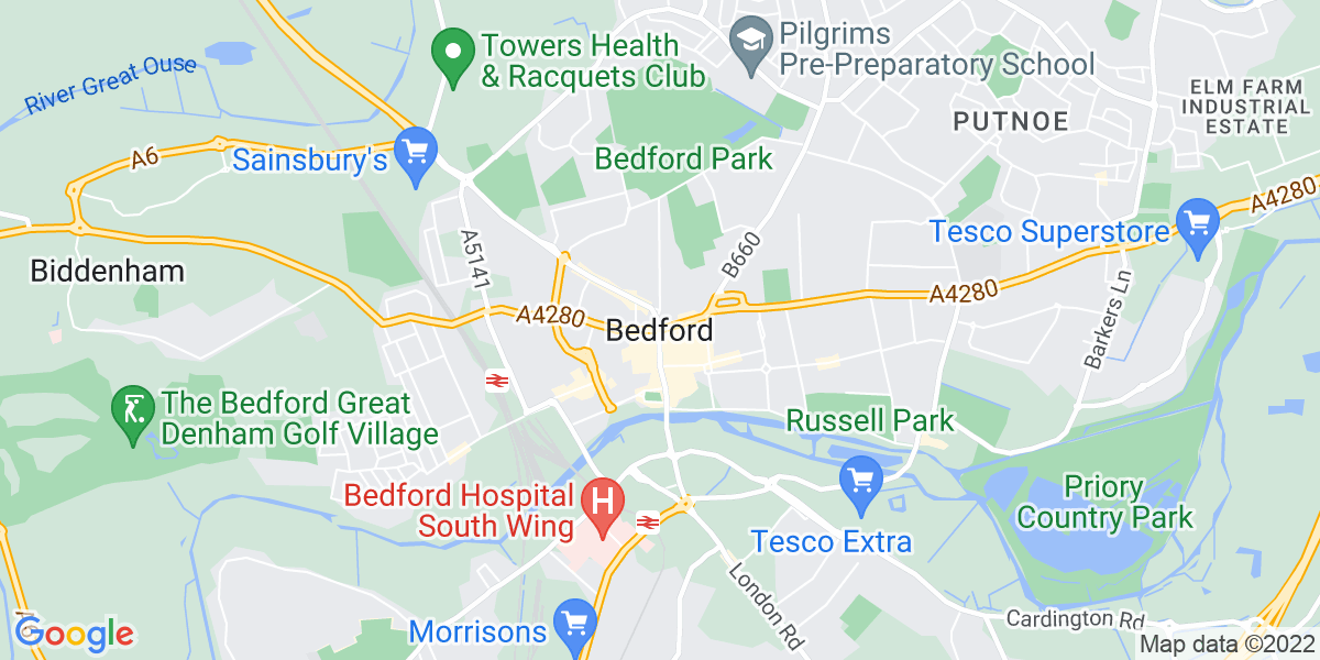 Map: Client Manager position in Bedford