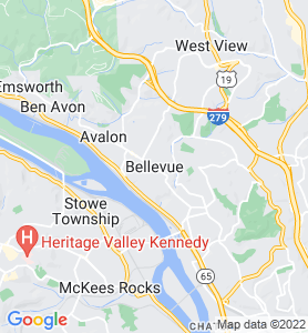 Bellevue PA Map