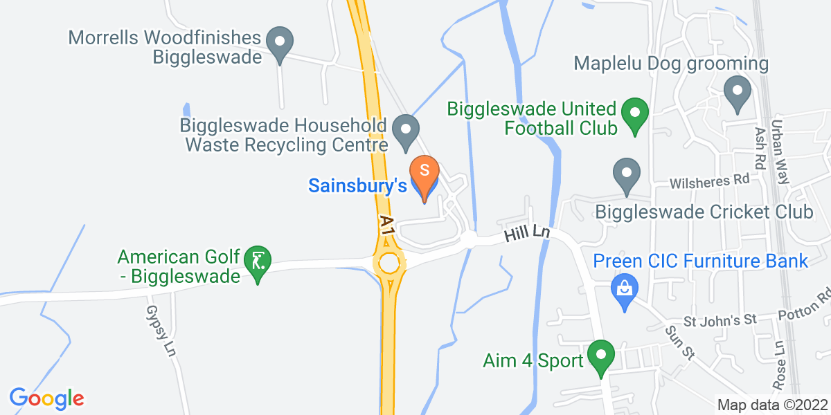 Google Map of Bells Brook Biggleswade SG18 0NA