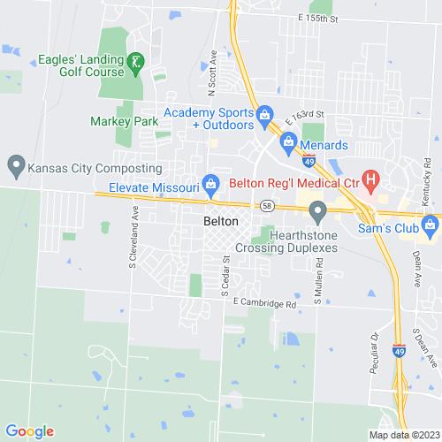 Map of Belton, MO